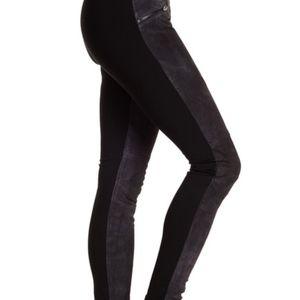 BLANK NYC Leather Paneled Pull On Leggings Pant 26